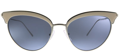 Prada PR 60VS 406420 Cat-Eye Metal Silver Sunglasses with Blue Lens