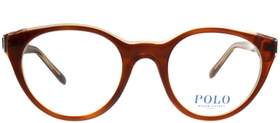 Polo Ralph Lauren PH 2174 5639 Round Plastic Brown Eyeglasses with Demo Lens