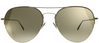 Bottega Veneta BV 0247S 007 Aviator Metal Gold Sunglasses with Brown Intrecciato Lens