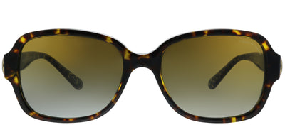 Coach HC 8241 5507T5 Rectangle Plastic Tortoise/ Havana Sunglasses with Brown Gradient Polarized Lens
