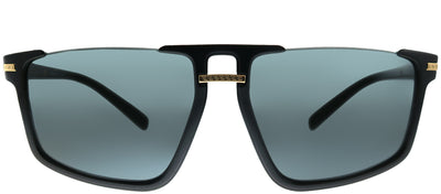 Versace VE 4363 GB1/87 Square Plastic Black Sunglasses with Grey Lens