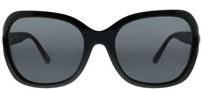 Coach HC 8238 551087 Square Plastic Black Sunglasses with Dark Grey Lens