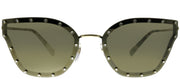 Valentino VA 2028 30035A Butterfly Metal Gold Sunglasses with Gold Mirror Lens