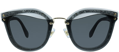 Miu Miu MU 03TS UES5S0 Square Plastic Grey Sunglasses with Grey Lens