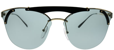 Prada PR 53US 1AB3C2 Round Metal Black Sunglasses with Grey Lens