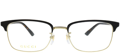 Gucci GG 0131O 002 Rectangle Metal Brown Eyeglasses with Demo Lens