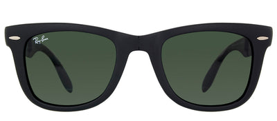 Ray-Ban RB 4105 601S Wayfarer Plastic Black Sunglasses with Green Lens