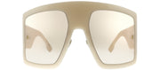 Dior CD DiorSoLight1 SZJ Wrap Plastic Ivory Sunglasses with Pink Lens