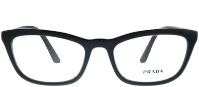 Prada PR 10VV 1AB1O1 Cat-Eye Plastic Black Eyeglasses with Demo Lens