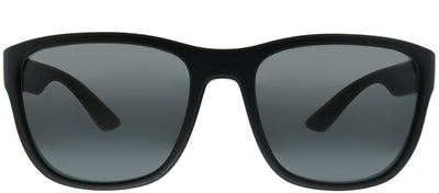 Prada Linea Rossa PS 01US DG05S0 Square Plastic Black Sunglasses with Grey Lens