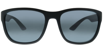 Prada Linea Rossa PS 01US UFK5L0 Square Plastic Grey Sunglasses with Grey Mirror Lens