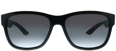 Prada Linea Rossa PS 03QS 1AB5W1 Rectangle Plastic Black Sunglasses with Grey Polarized Lens