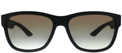 Prada Linea Rossa PS 03QS DG00A7 Rectangle Plastic Black Sunglasses with Grey Gradient Lens