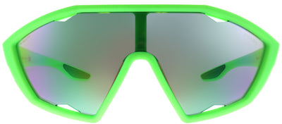 Prada Linea Rossa PS 10US 4471M2 Sport Plastic Green Sunglasses with Green Mirror Lens