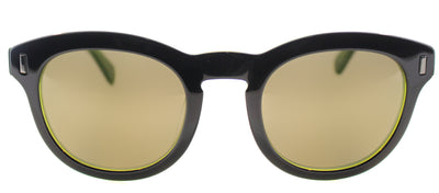Marc By Marc Jacobs MMJ 433 7ZJ Round Plastic Black Sunglasses with Gold Mirror Lens