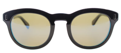 Marc By Marc Jacobs MMJ 433 7ZR Round Plastic Black Sunglasses with Blue Mirror Lens
