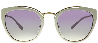 Prada PR 20US YNC226 Cat-Eye Plastic Ivory/ White Sunglasses with Violet Gradient Lens