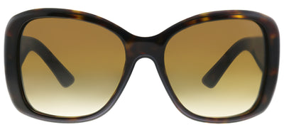 Prada PR 32PS 2AU6S1 Oval Plastic Tortoise/ Havana Sunglasses with Brown Gradient Lens