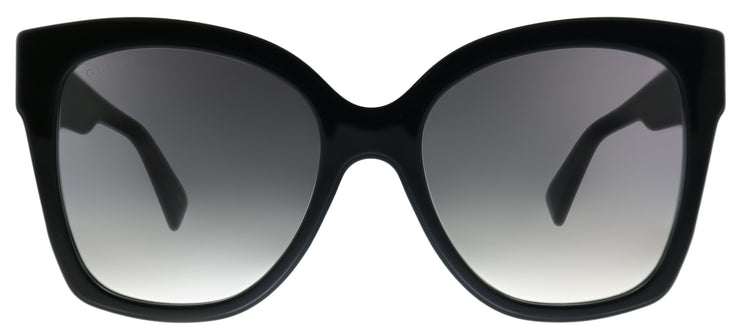 Gucci GG 0459S 001 Square Plastic Black Sunglasses with Grey Gradient Lens