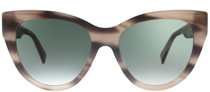 Gucci GG 0460S 005 Cat-Eye Plastic Tortoise/ Havana Sunglasses with Green Gradient Lens