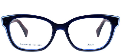Tommy Hilfiger TH 1439 L0J Square Plastic Blue Eyeglasses with Demo Lens