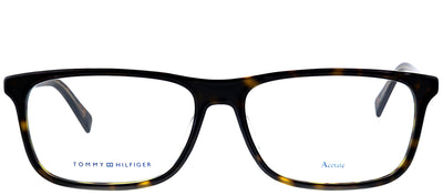 Tommy Hilfiger TH 1452 A84 Square Plastic Tortoise/ Havana Eyeglasses with Demo Lens