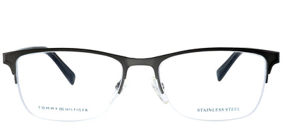 Tommy Hilfiger TH 1453 B3Y Rectangle Metal Ruthenium/ Gunmetal Eyeglasses with Demo Lens