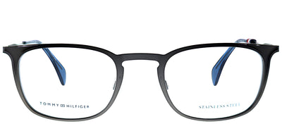 Tommy Hilfiger TH 1473 R80 Square Metal Ruthenium/ Gunmetal Eyeglasses with Demo Lens