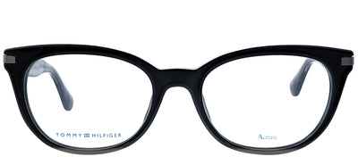 Tommy Hilfiger TH 1519 08A Cat-eye Plastic Black Eyeglasses with Demo Lens
