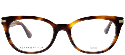 Tommy Hilfiger TH 1519 SX7 Cat-eye Plastic Tortoise/ Havana Eyeglasses with Demo Lens