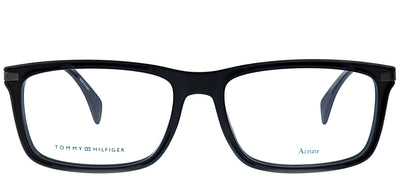 Tommy Hilfiger TH 1538 003 Rectangle Plastic Black Eyeglasses with Demo Lens