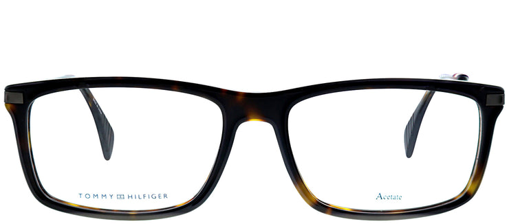 Tommy Hilfiger TH 1538 086 Rectangle Plastic Tortoise/ Havana Eyeglasses with Demo Lens
