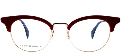 Tommy Hilfiger TH 1540 C9A Cat-eye Plastic Burgundy/ Red Eyeglasses with Demo Lens