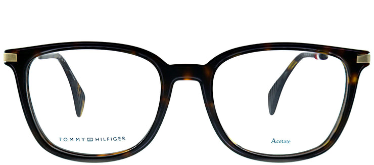 Tommy Hilfiger TH 1558 086 Rectangle Plastic Tortoise/ Havana Eyeglasses with Demo Lens