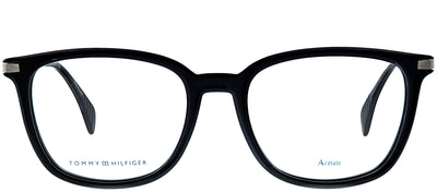 Tommy Hilfiger TH 1558 807 Rectangle Plastic Black Eyeglasses with Demo Lens