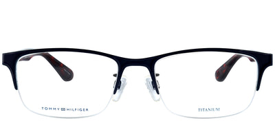 Tommy Hilfiger TH 1583F FLL Square Metal Blue Eyeglasses with Demo Lens