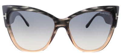 Tom Ford TF 371 20B Cat-Eye Plastic Grey Sunglasses with Grey Gradient Lens