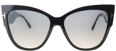 Tom Ford TF 371 01B Cat-Eye Plastic Black Sunglasses with Grey Gradient Lens