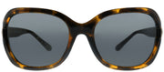 Coach HC 8238 550787 Square Plastic Tortoise/ Havana Sunglasses with Dark Grey Lens