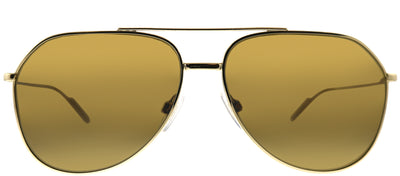 Dolce & Gabbana DG 2166 02/83 Aviator Metal Gold Sunglasses with Brown Polarized Lens