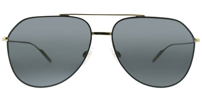 Dolce & Gabbana DG 2166 130587 Aviator Metal Black Sunglasses with Grey Lens