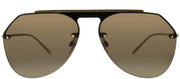 Dolce & Gabbana DG 2213 02/73 Aviator Metal Gold Sunglasses with Brown Lens