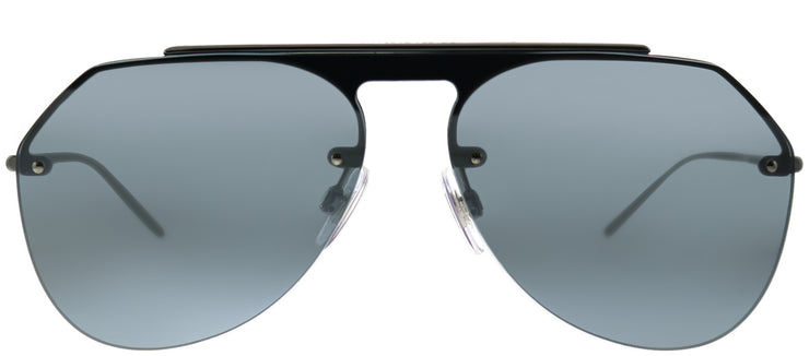 Dolce & Gabbana DG 2213 04/6G Aviator Metal Ruthenium/ Gunmetal Sunglasses with Grey Mirror Lens