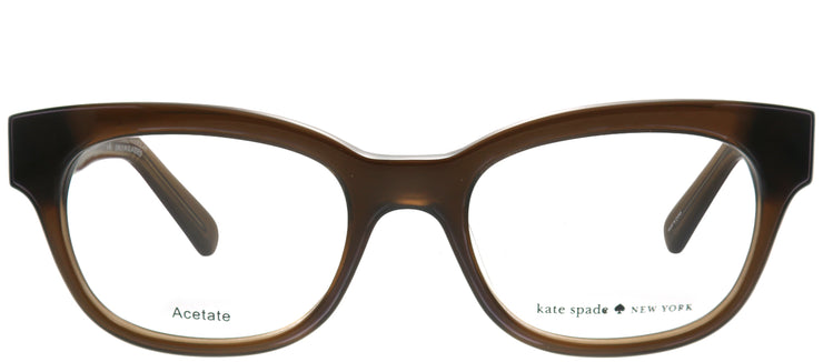 Kate Spade KS Andra W07 Rectangle Plastic Brown Eyeglasses with Demo Lens