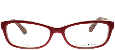Kate Spade KS Jessalyn XSU Rectangular Plastic Burgundy/ Red Eyeglasses with Demo Lens