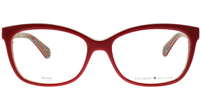 Kate Spade KS Jodiann XSU Rectangular Plastic Burgundy/ Red Eyeglasses with Demo Lens