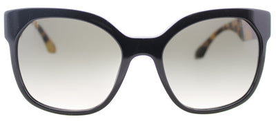 Prada PR 10RS 1AB0A7 Fashion Plastic Black Sunglasses with Grey Gradient Lens