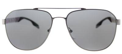 Prada PR 51RS 7CQ5Z1 Aviator Metal Ruthenium/ Gunmetal Sunglasses with Grey Polarized Lens