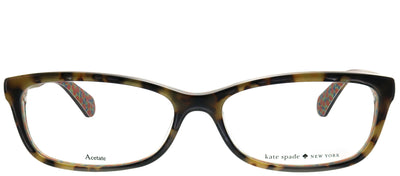 Kate Spade KS Jessalyn 2NL Rectangular Plastic Tortoise/ Havana Eyeglasses with Demo Lens