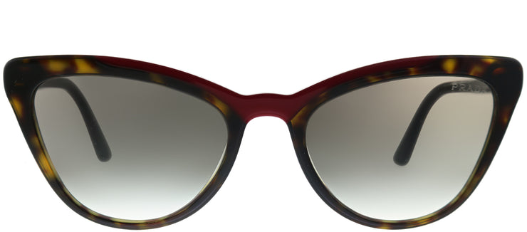 Prada PR 01VS 3200A7 Cat-Eye Plastic Tortoise/ Havana Sunglasses with Grey Gradient Lens